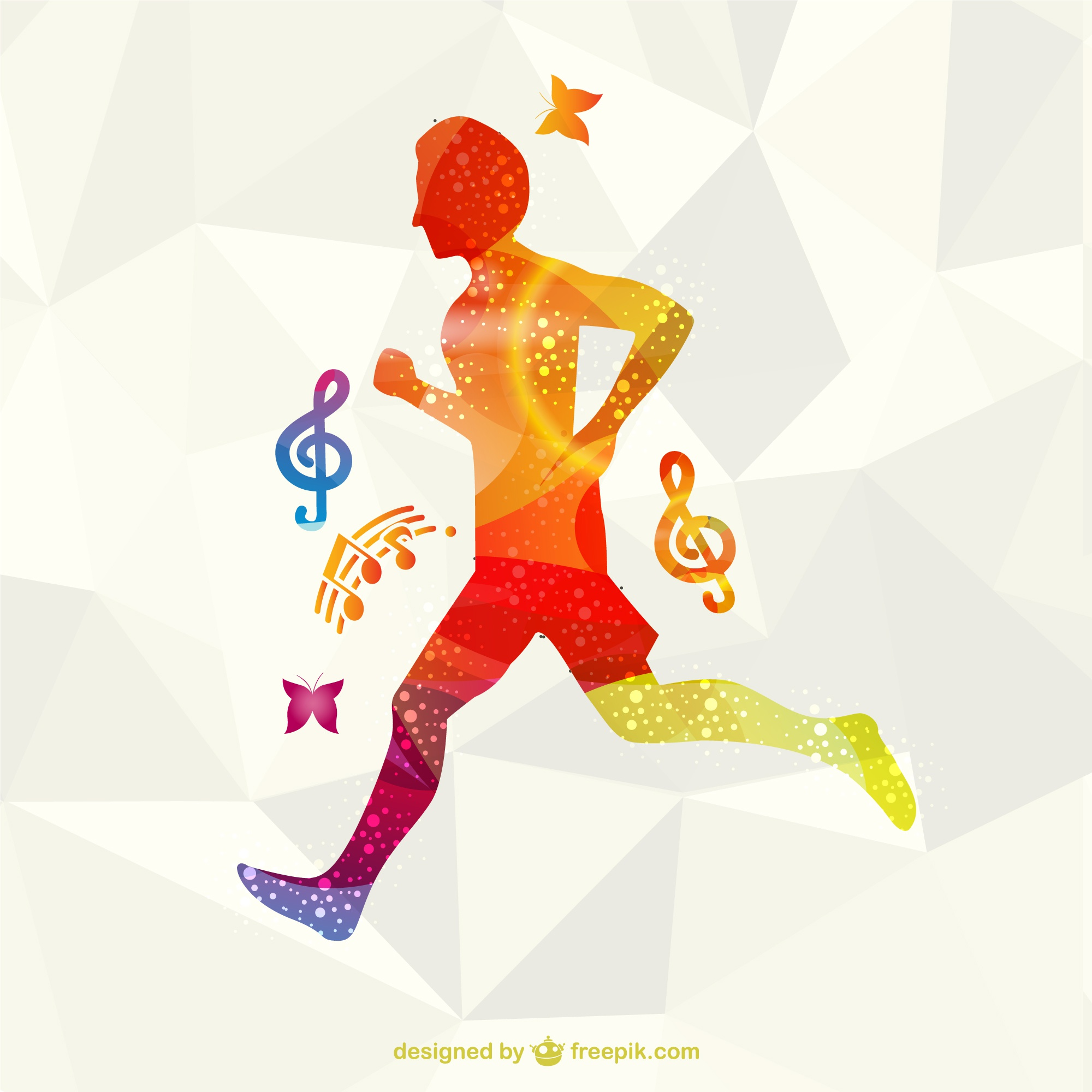 Running athlete vector free