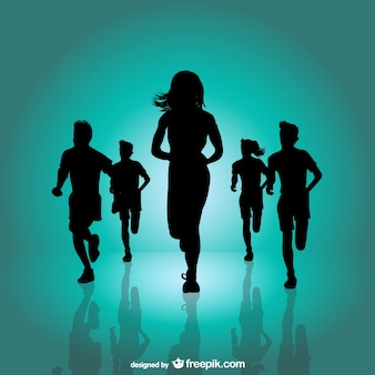 Running marathon background