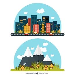 Rural and urban landscape