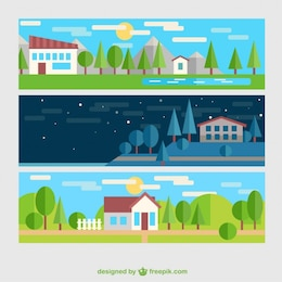 Rural landscape banners
