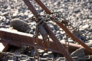 Rusted chains, closed