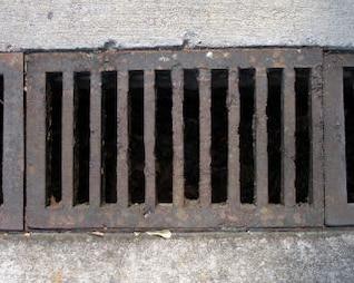 Rusted drain, drain
