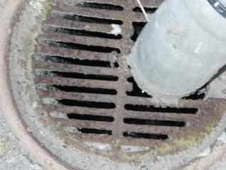Rusted drain, metal