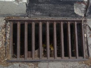 Rusted drain