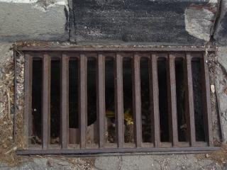 Rusted drain