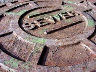 Rusted manhole
