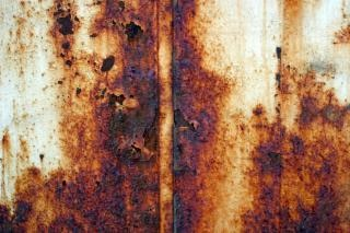 Rusted metal, rust, brown