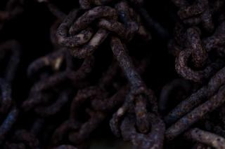 Rusted steel chain
