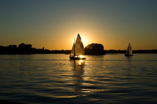 Sailing in the evening