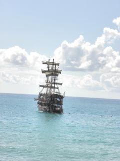 Sailing ship in mediterranea