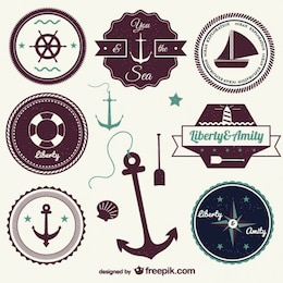 Sailing tags vintage style