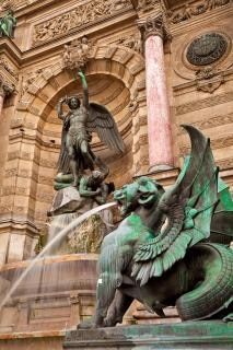 saint michel fountain  outdoors