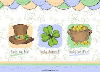 Saint Patrick's elements set