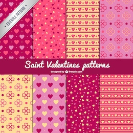 Saint Valentine's patterns