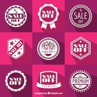 Sale badges in retro style