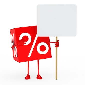 Sale cube with an empty board