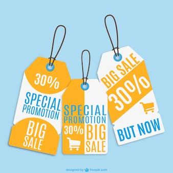 Sale price tags set