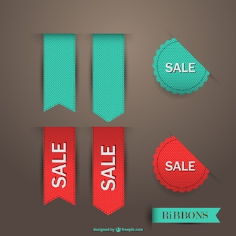 Sale ribbon vector