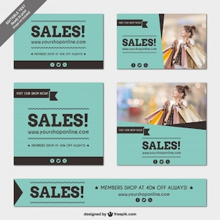 Sales banners templates pack