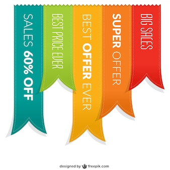 Sales ribbon banners