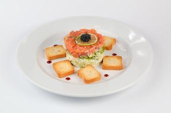 Salmon with toast