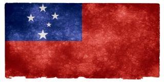 Samoa grunge flag  white