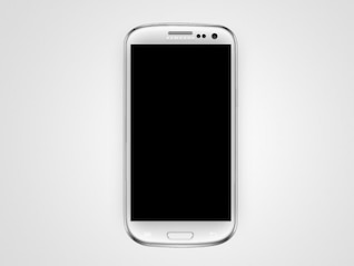 Samsung Galaxy Mobile Vector Mock Up