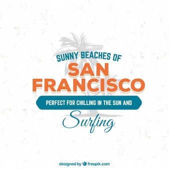 San Francisco beaches poster