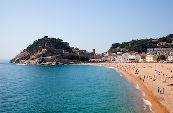 Sand beach in Tossa de Mar