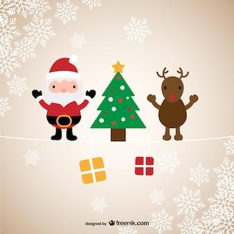 Santa & Reindeer Christmas greeting
