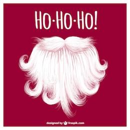 Santa Claus beard vector