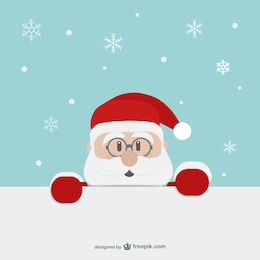Santa Claus face cartoon