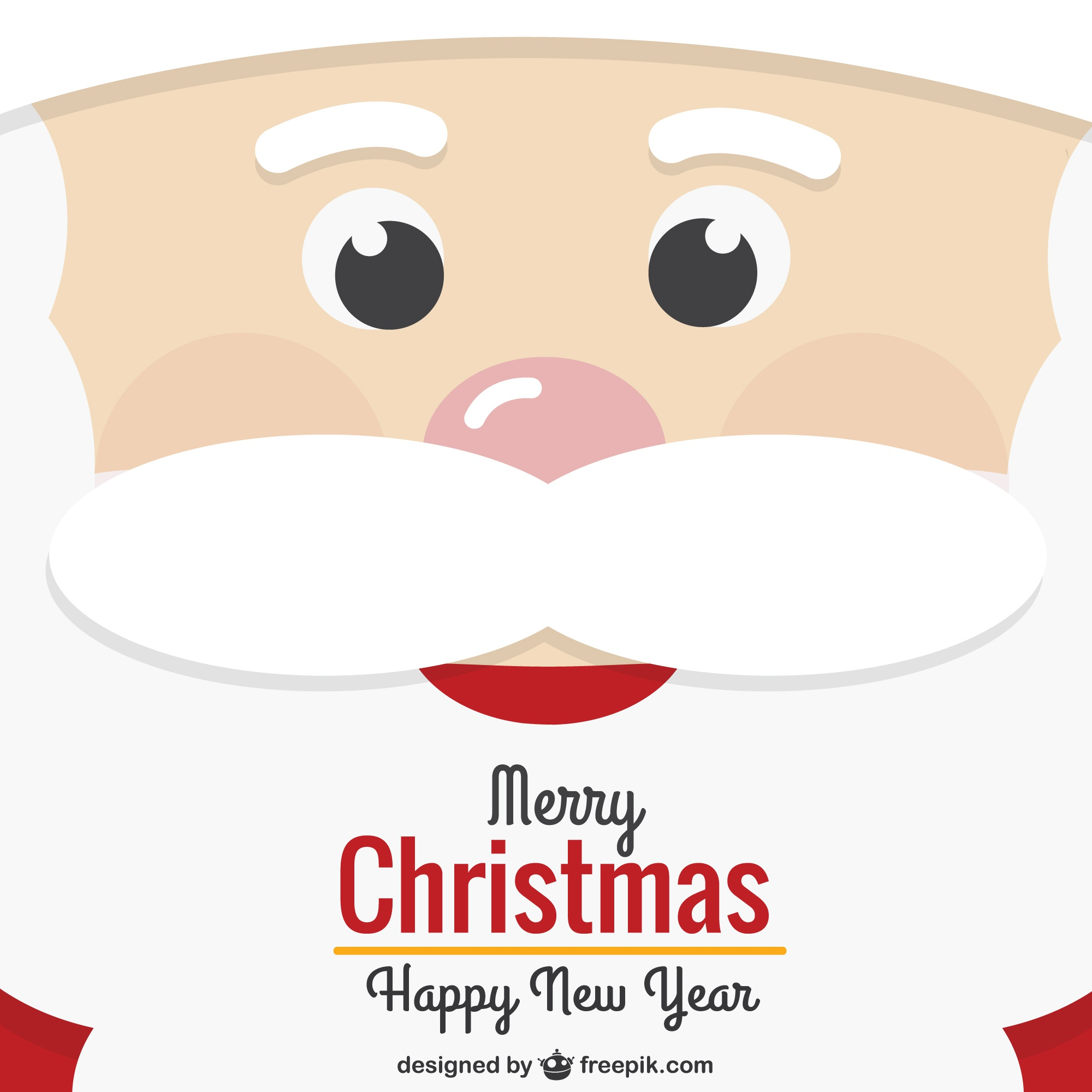 Santa Claus face Christmas card