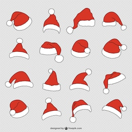 Santa Claus hats collection