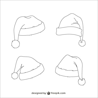 Santa Claus hats sketches