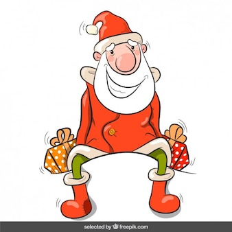 Santa Claus with presents
