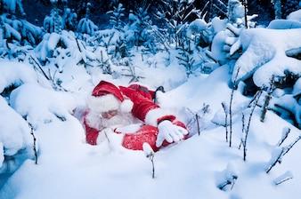 Santa struggling to deliver presents