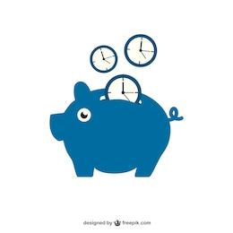 Saving time with piggy bank