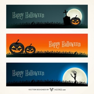 Scary banners for halloween celebration