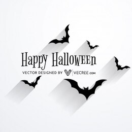 Scary bat flying halloween design