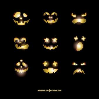 Scary Halloween pumpkins pack