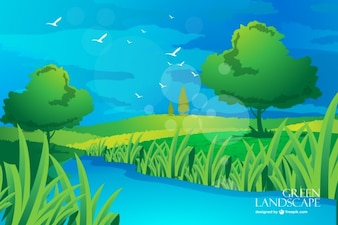 Scenery vector free download