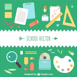 School concept vector template