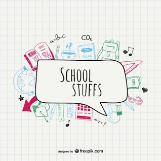 School supplies vector drawing