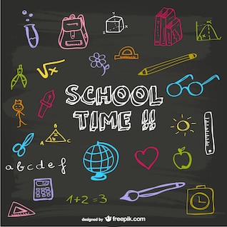 School time blackboard design