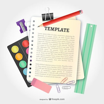 School vector template