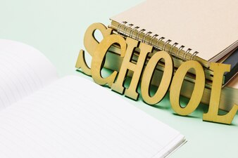 School writing and notebooks
