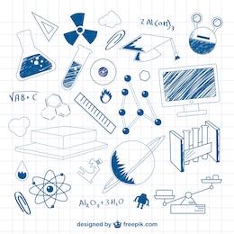 Science doodle vector illustration