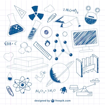 Science doodle vector illustration