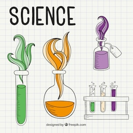 Science drawings on a notebook paper